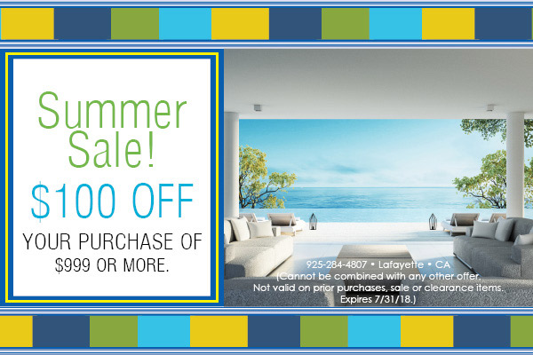 $100 off your purchase of $999 or more during the Summer Sale at Blodgett's!