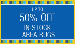 In-stock area rugs up to 50% OFF during the Summer Sale at Blodgett's!