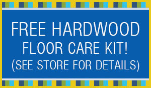 Free hardwood floor care kit with any hardwood floor purchase ($60 value) during the Summer Sale at Blodgett's!
