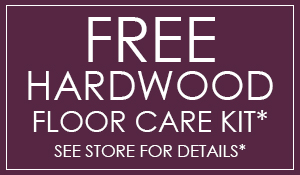 Free hardwood floor care kit with any hardwood floor purchase ($60 value) at Blodgett's Abbey Carpet & Flooring!