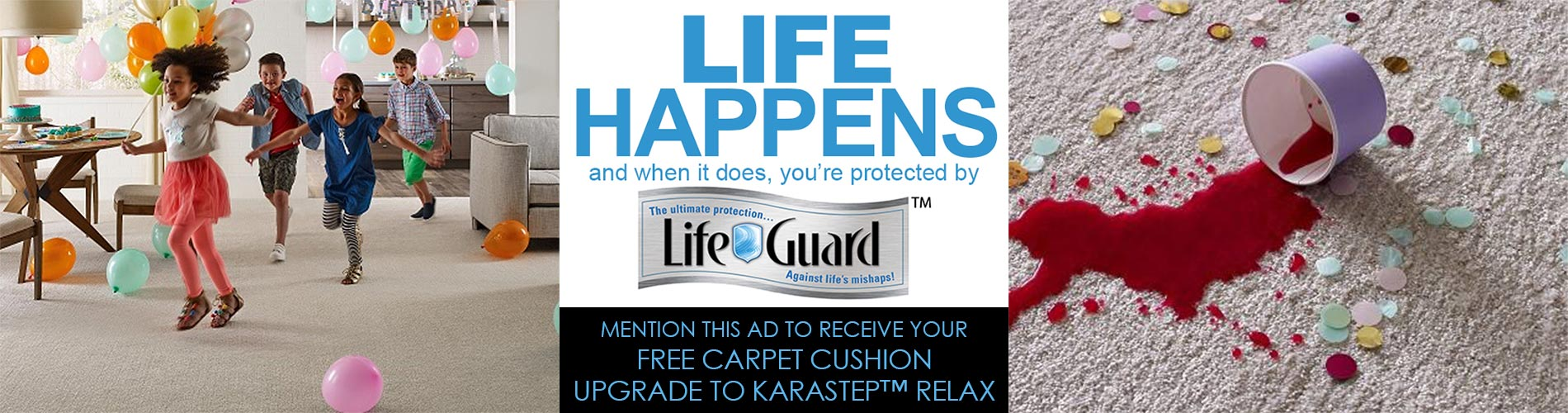 Free carpet cushion upgrade to Karastep™ Relax at Blodgett's Abbey Carpet & Flooring!