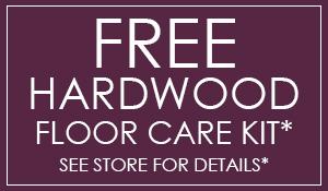 Free hardwood floor care kit with any hardwood floor purchase ($60 value) at Blodgett's Abbey Carpet & Flooring!