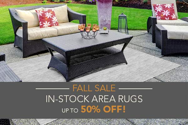 In-stock area rugs up to 50% off at Blodgett's Floor Covering in Lafayette