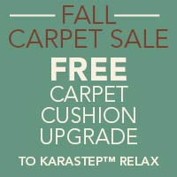 Free Carpet Cushion Upgrade to Karastep Relax at Blodgett's Floor Covering in Lafayette