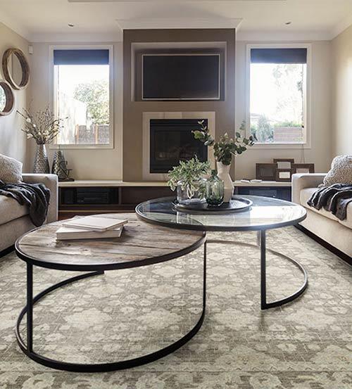 Fabrica area rug room scene