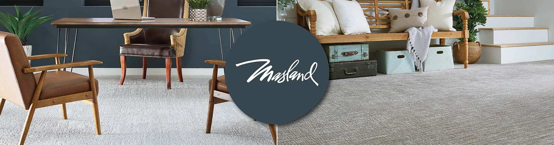 Featuring Masland carpet and rugs.